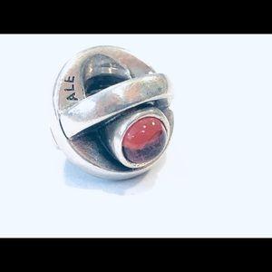 Pandora Sterling Pink CZ Eye Charm